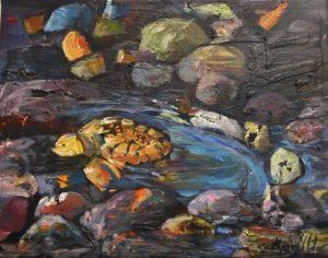 """""""Turtle Arising"""" -Mixed Media"""