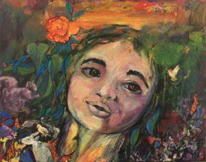 """Island Mother Nature Self Portrait"" -Acrylic"